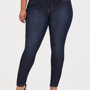 Torrid dark wash skinny jeans size 20R